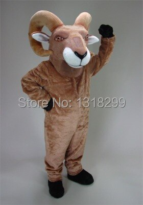 Mascota Tan desierto Bighorn mascota disfraz vestido de lujo traje cosplay tema mascota disfraz de Carnaval