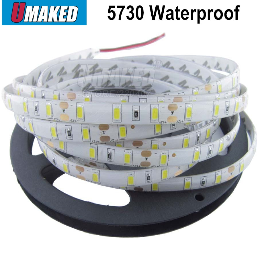 Tira de LED resistente al agua de 5M 5630 SMD DC12V 300leds flexibles 5730 luces led de cinta de alta luminosidad decoración del hogar envío gratis