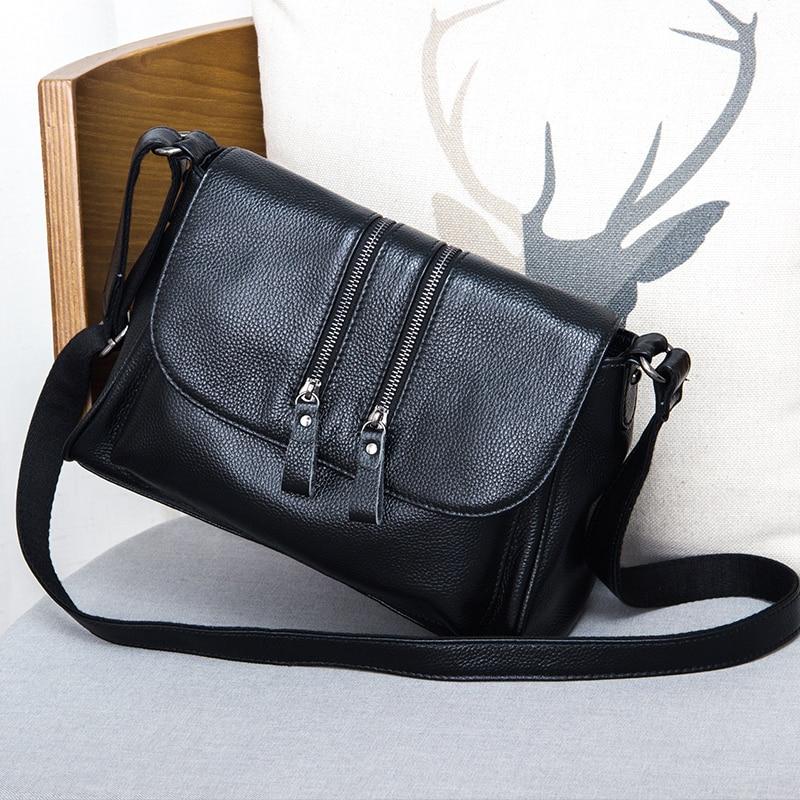 2019 New Fashion Genuine Leather Small Flap Bag Luxury Handbags Women Bags Designer Female Shoulder Crossbody Bags Ladies Purse