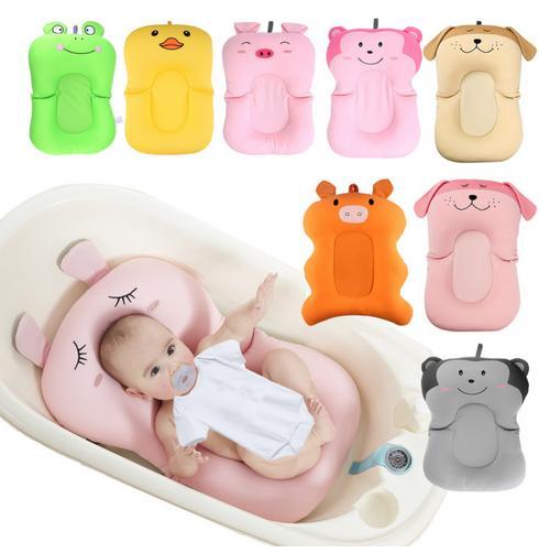 Colchón de aire portátil para ducha de bebé, almohadilla de baño para bebés, alfombrilla antideslizante para bañera, asiento de seguridad para baño para recién nacidos