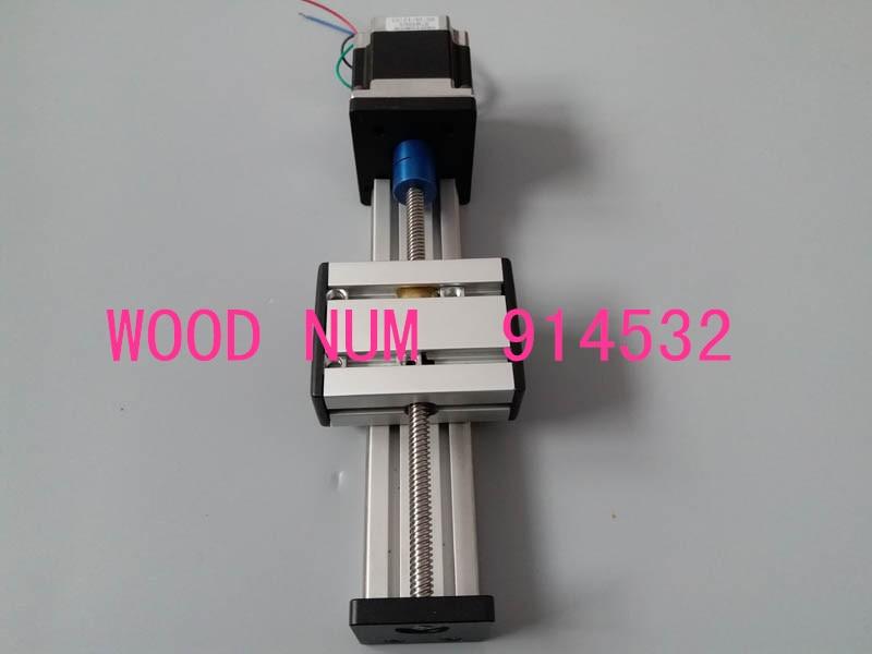 Бесплатная доставка 200 мм T8 * 8 мм t-винтовой шариковый винт линейная направляющая движения подвижный стол направляющая + 57 Nema 23 шаговый двигатель CNC