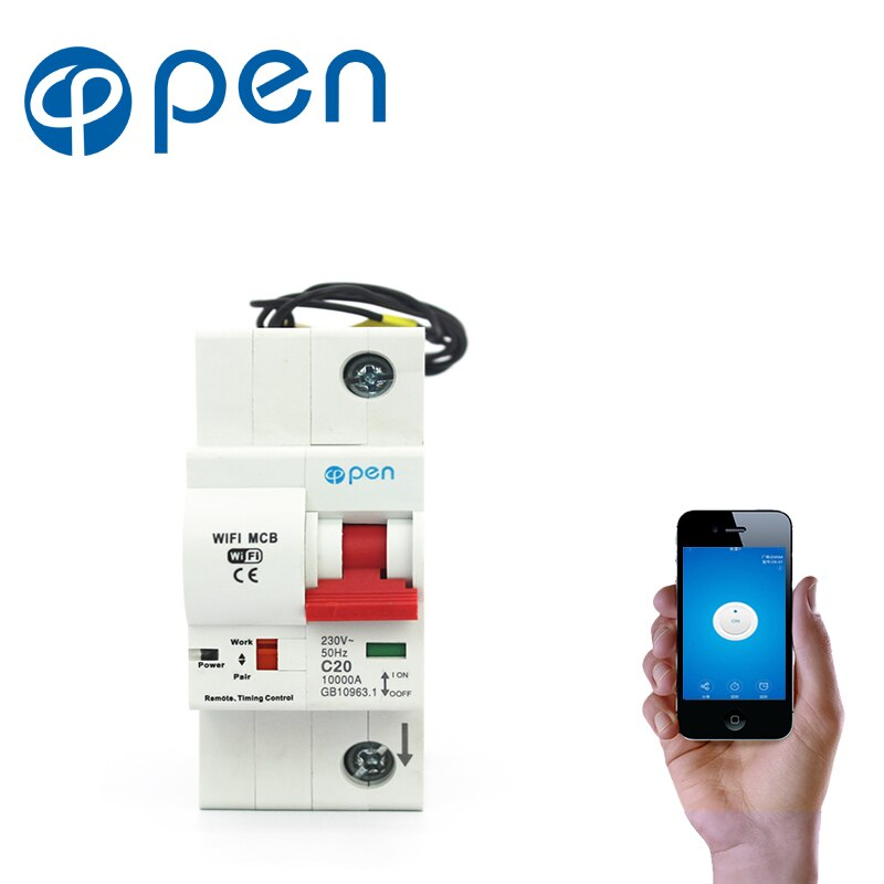 cenb1 125 type 1000v solar circuit breaker mini dc circuit breaker mcb with overload short circuit protection 125a 100a 80a 63a OPEN 1P 80A Remote Control Wifi Circuit Breaker/Smart Switch/ Intelligent Automatic Recloser overload/ short circuit protection