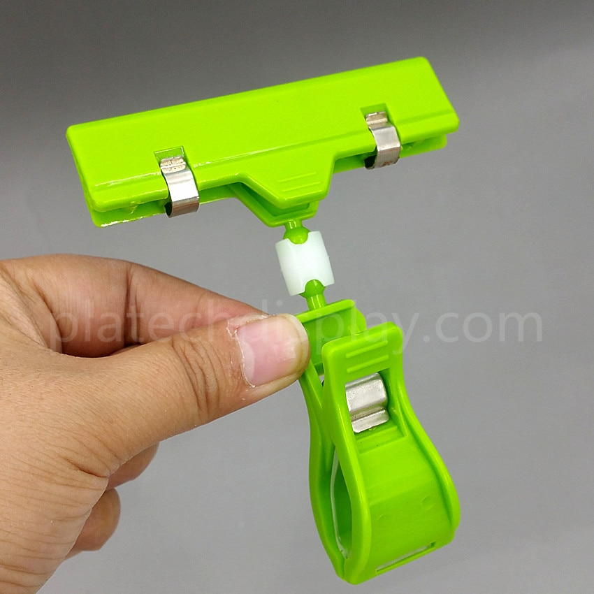 Plastic POP Rotatable Supermarket Sign Signs Paper Card Holder Price Tag Label Display Banner Clips Holders 2000pcs Good Quality