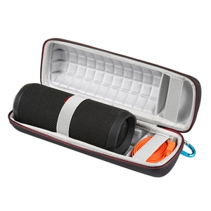 Newest Travel Protective Wireless Bluetooth Speakers Case for JBL Flip 4 flip4 Extra Space For Plug&Cables Storage Zipper Bags