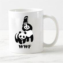 Tasse de café en céramique pour la maison   Personnalisée, Wwf, tasse de thé en céramique pour la mode panda, cadeaux pour enfants