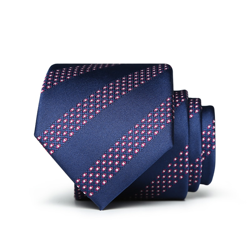 man bow tie 2018 new arrival 7cm formal suits ties for men deep blue dots adult business wedding groom necktie with gift box