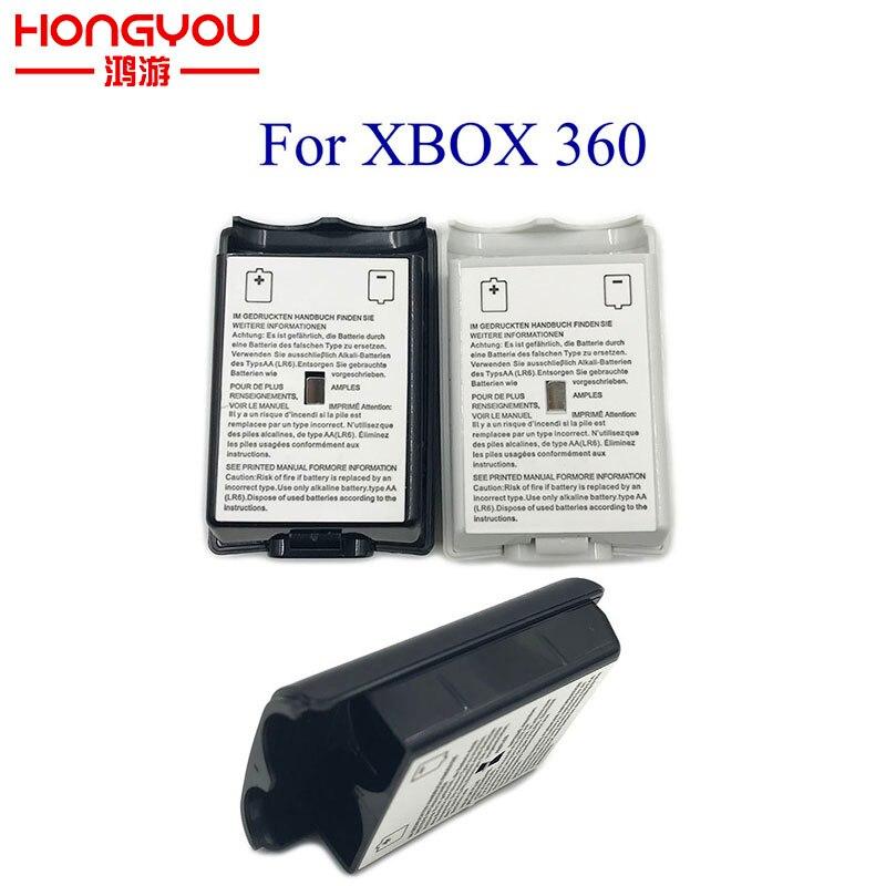 100 шт. для Xbox 360 чехол для батареи беспроводной контроллер чехол для аккумуляторной батареи для Xbox 360 с наклейкой