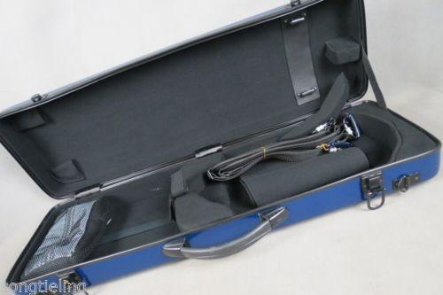 Отличный Чехол для скрипки синего цвета, прочный, твердый стекловолокно 4/4, MA #6768