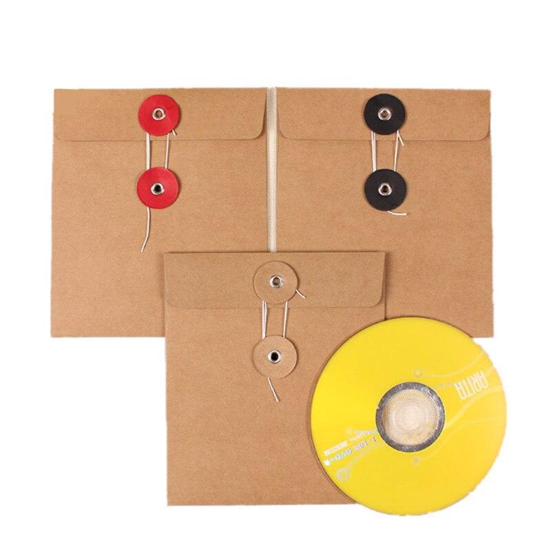 200 unids/lote venta al por mayor 13*15cm de alta calidad de disco CD manga 250gsm evento Kraft CD DVD bolsa de papel cubierta CD embalaje sobres cajas