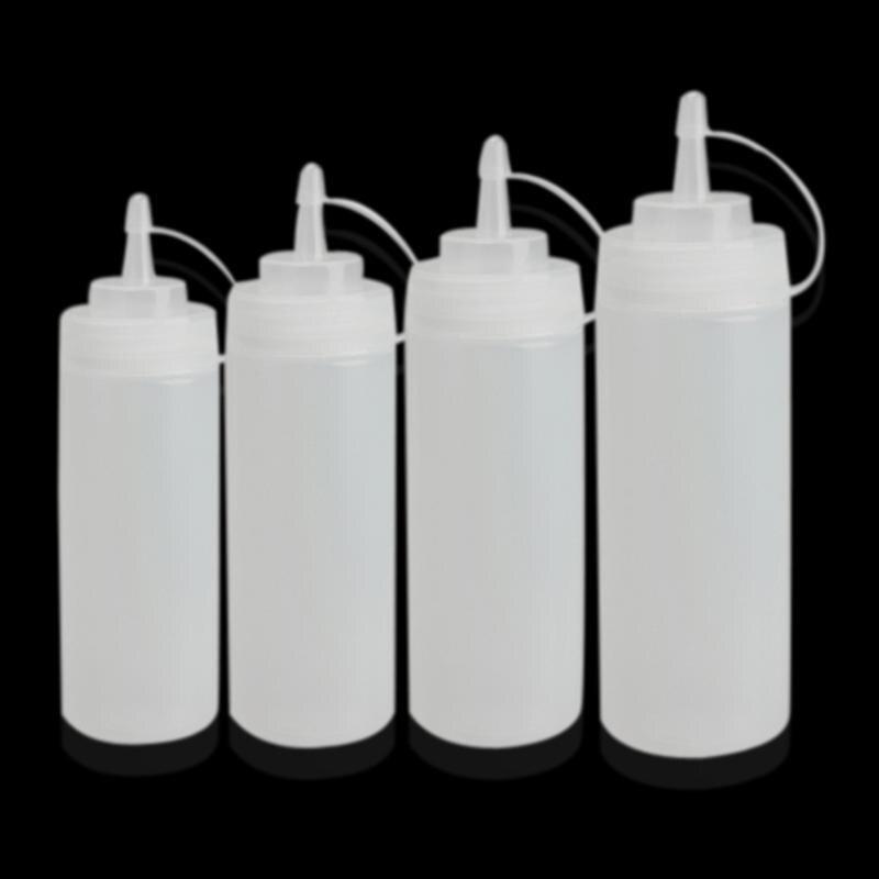 Dispensador de botellas de compresión de plástico de cocina Cruet para salsa Ketchup salsa olla exprimidor botella accesorios de cocina herramientas de cocina
