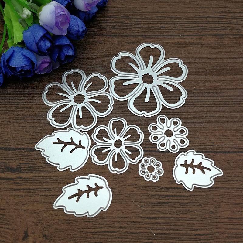 8pc flower spring leaf METAL CUTTING DIES Stencil Scrapbooking Photo Album Card Paper Embossing Craft DIY
