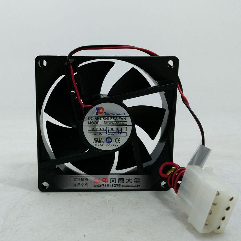 8025 8 cm DF0802512SEMN 12 V 0.13A 2-draht CPU Kühler