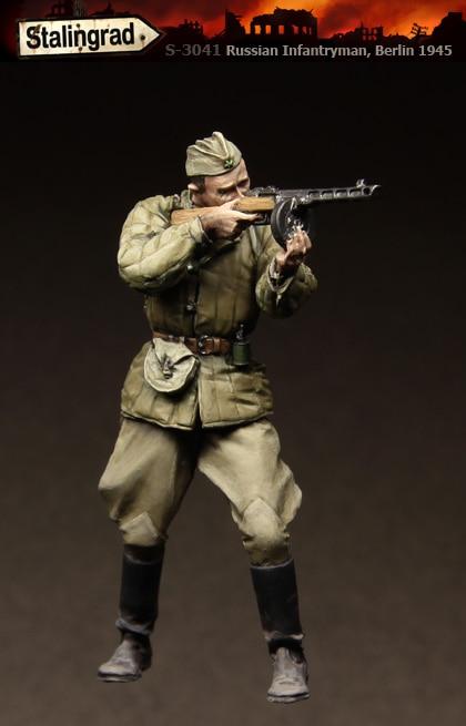 1/35 Figuras de Resina Modelo Kit-C181 Infantaria Russa Unassembled sem pintura