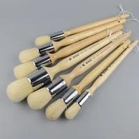 high elasticity oil painting bristle hair paint brush set large round acrylic painting brush bristle hair painting supplies etui
