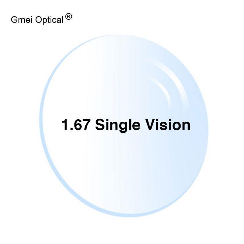 حماية الإشعاع 1.67 عالية مؤشر رقيقة جدا HMC EMI شبه الكروي المضادة للأشعة فوق البنفسجية قصر النظر قصر النظر واضح العدسات البصرية وصفة طبية ، 2 قطعة