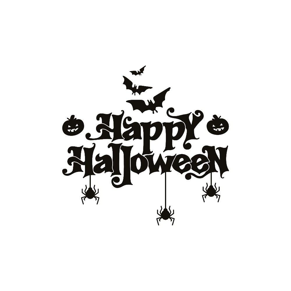 Halloween decoración o casa hogar pegatina de pared/ventana adhesivos para decorar mural desmontable de decoraci n Pared de Salón de la etiqueta engomada