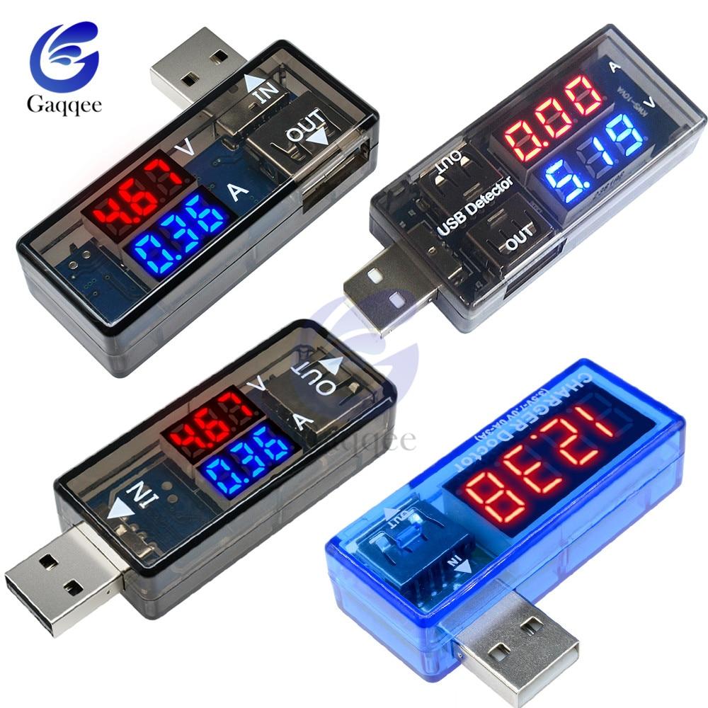 2 en 1 probador Usb Dual medidor de potencia de CC voltímetro Digital voltímetro de potencia banco de potencia medidor de voltaje detector de doctor