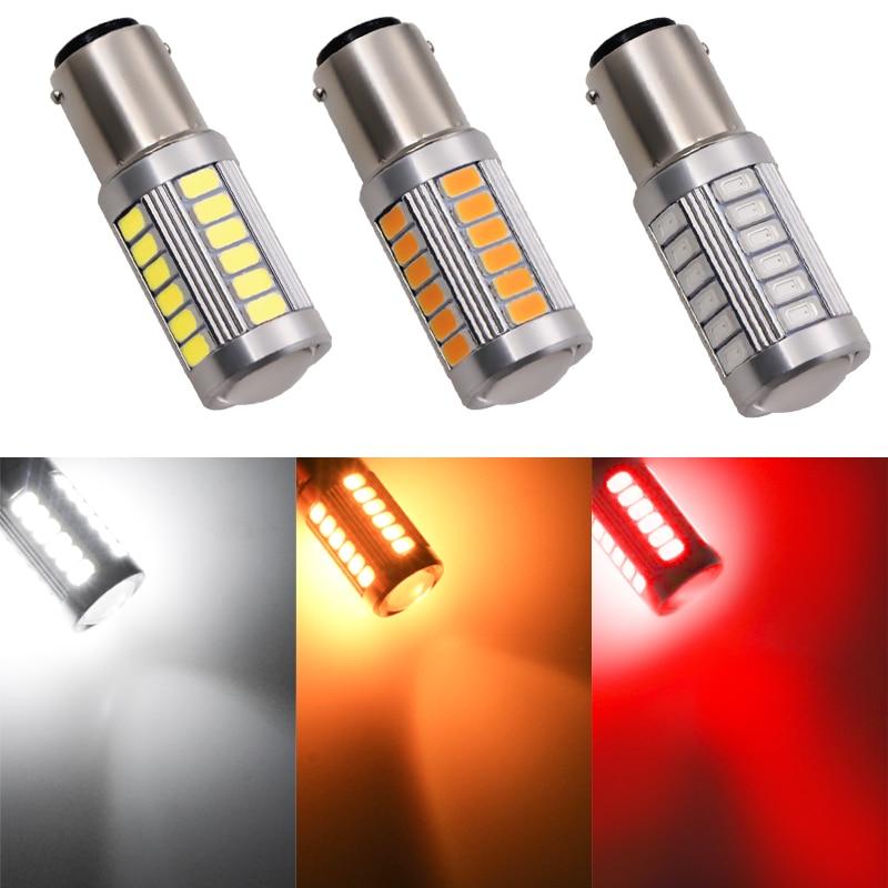 1X 1157 P21/5W BAY15D Super brillante 33 SMD 5630 5730 luces LED de freno para automóvil lámpara antiniebla 21/5w luces diurnas para coche 12