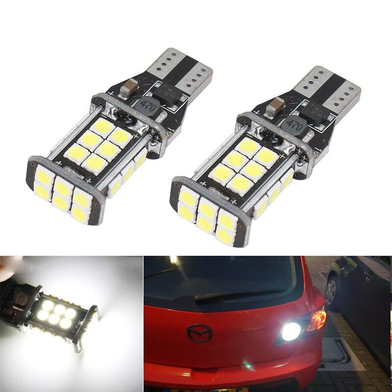 2x Canbus 3030 SMD T15 912 W16W 921 LED Bulbs Car Backup Reverse Light For Mazda 3 5 6 626 CX-5 CX5 MX-5 Miata RX-8 CX-9 Tribute