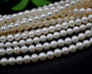 Stunning 5-5.5MM round cultured freshwater pearl strands free shipping small pearl