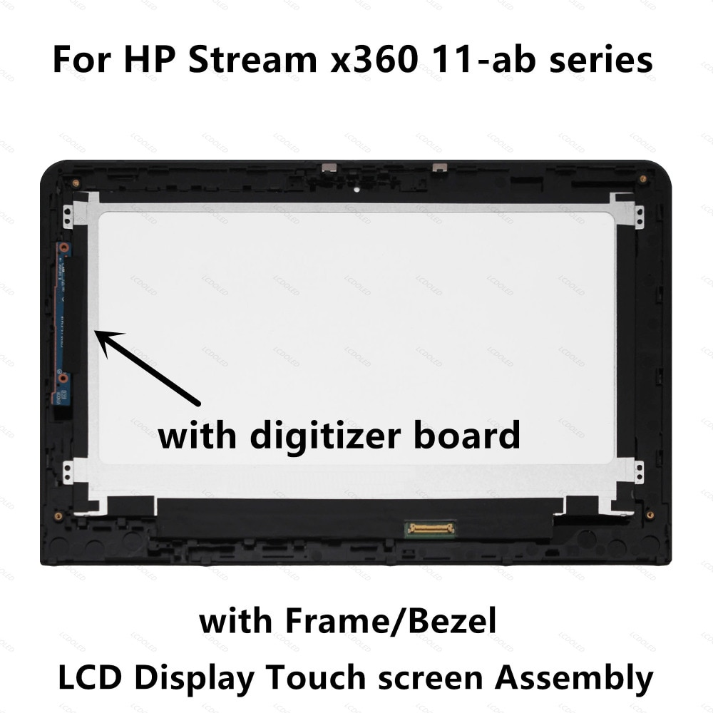 "11.6 ""LCD Full Screen Display Toque Assembléia Painel Digitador Placa Para HP x360 11-ab 11-ab022tu 11-ab033tu 11-ab004la 11-ab008tu"