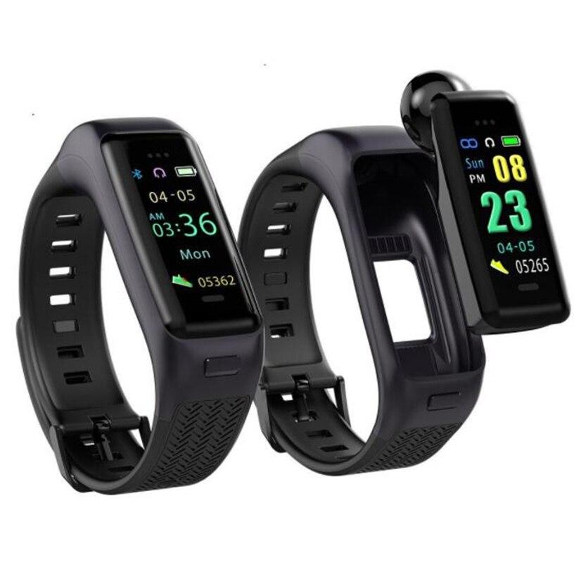 B03 recordatorio de llamada de rechazo ritmo cardíaco sueño sedentario monitoreo de pantalla de color Bluetooth auriculares deportivos reloj inteligente pulsera