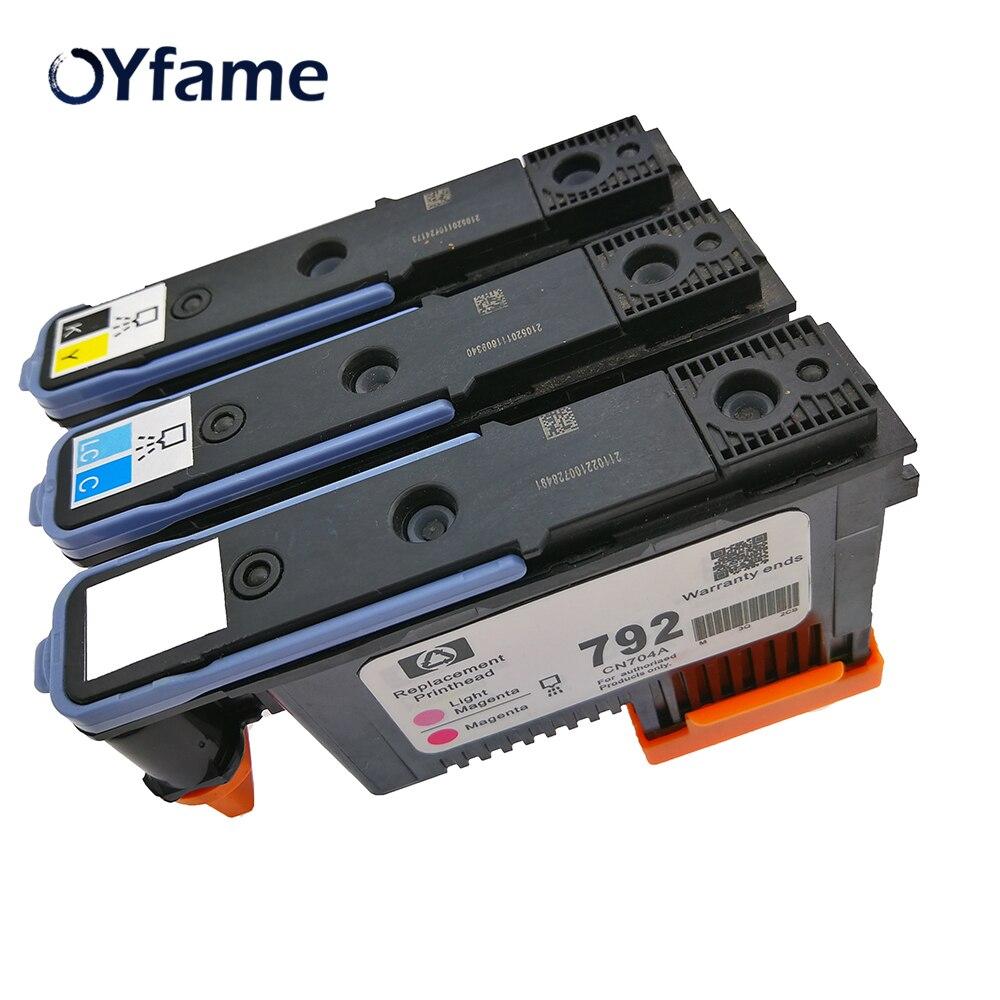 OYfame 792 cabezal de impresora Compatible para HP 792 cabezal de impresión DesignJet L26100 Z26500 Z26800 210, 260 de 280 L28500 L26500