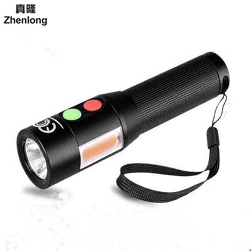 Multi-función Anti-cuerpo Auto-alarma brillante linterna de aluminio impermeable CREE LED linterna antorcha para 18650