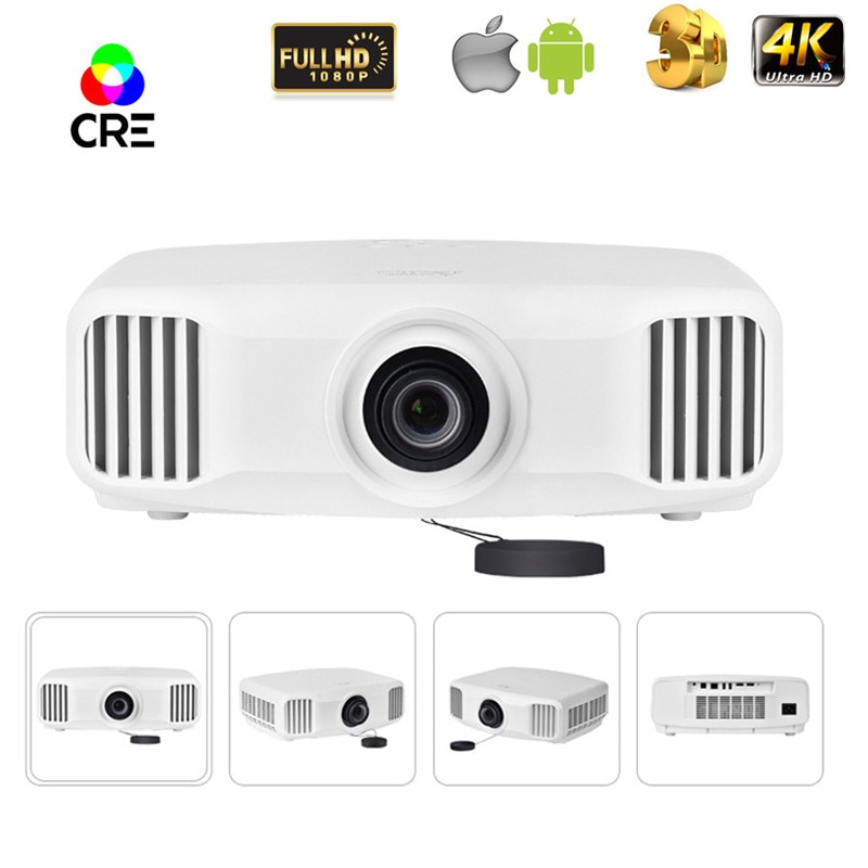 Proyector de pantalla ancha led 3 lcd 1080p full hd, soporte de video 4k 4096*2160 proyector de cine en casa a precio de fábrica 16:9 de alto rango