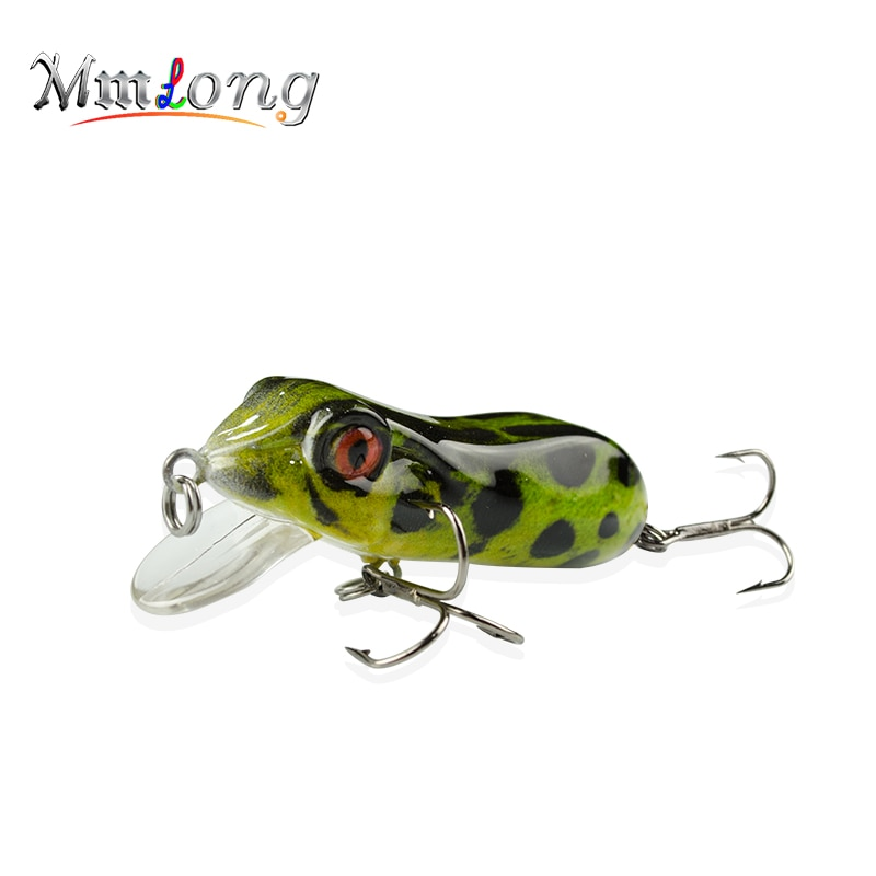 Mmlong 6.3cm Hard Frog Fishing lures Floating Minnow MR03-S Artifical Baits Fishfrog Wobbler Fishing Crank Bait Lure Pesca