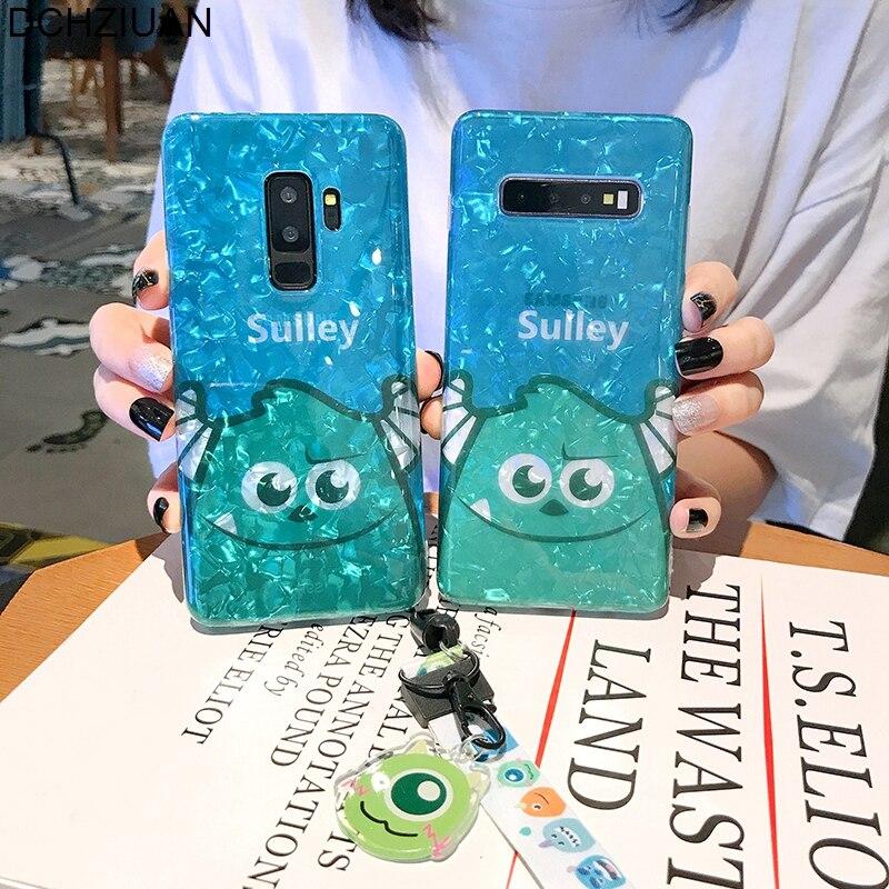 DCHZIUAN, carcasa de concha de dibujos animados Sulley, funda de teléfono para Samsung Galaxy S10 Plus S8 S9 Plus Note 8 Note 9, bonita funda de silicona