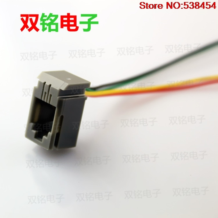 5 uds RJ11 socket RJ10 RJ9 línea teléfono jack auricular 4P4C con línea socket 616L