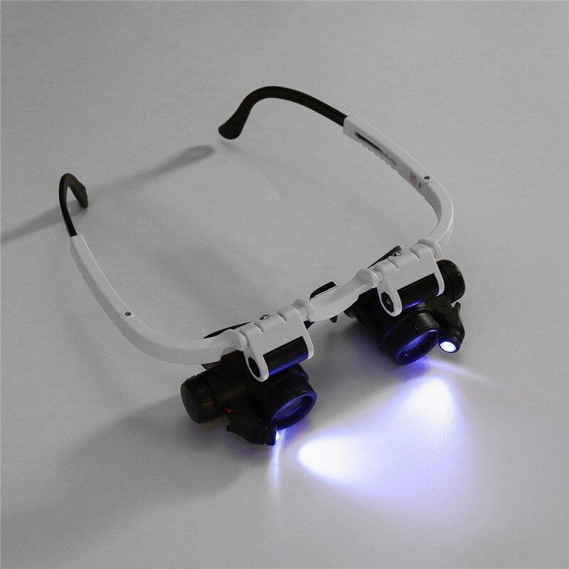 Профессиональная Регулируемая Лупа 8X 23X светодиодный светильник оголовье увеличительное стекло светодиодный