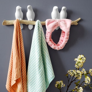 0303TB015 American country decorative hook wall hanging coat hook creative bird hanger room wall coat hat key frame rack