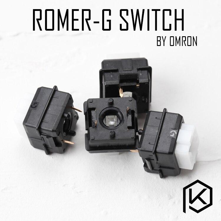 Interruptor mecânico de baixo perfil b3k para g910 orion faísca corpo preto logitech romer-g interruptor rgb ormon tátil