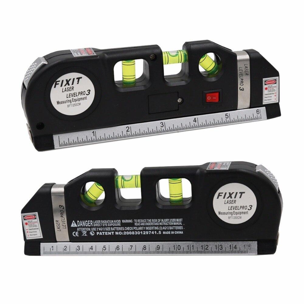 ltipurpose 3 Bubbles Laser Level Horizon Vertical Measuring Tape  Aligner Ruler Tool  20%off