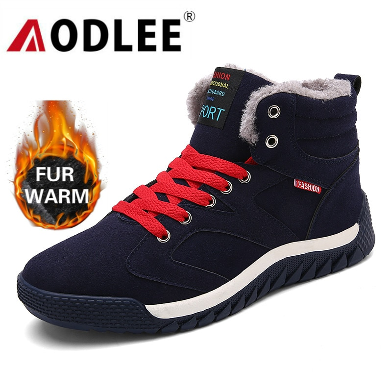 surom brand men s boots big size warm plush male leather shoes work boot warm fur winter casual snow sneakers mens ankle boots AODLEE Boots Men Plus Size 48 Men Winter Warm Snow Boots High Top Fur Boots Fashion Sneakers Men Ankle Boots Mens Shoes Casual