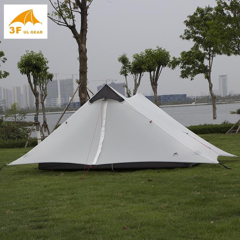 3f ul снаряжение для улицы 2 человека Сверхлегкая палатка для кемпинга без полюсов barraca de acamento barracas para палатка для кемпинга e серый Lanshan