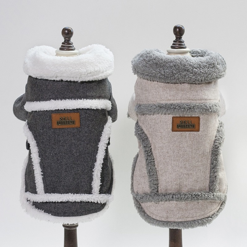Ropa de invierno a la moda para perros pequeños, abrigo de algodón cálido para perros, chaqueta para cachorros y Chihuahua, abrigos, ropa para mascotas, abrigo Chien