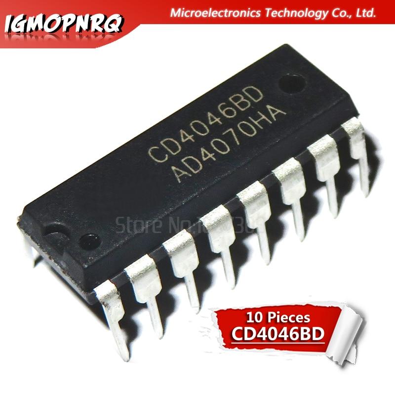 10 stücke CD4046BE CD4046 DIP16 neue original