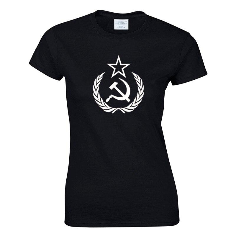 Nueva llegada, camiseta para mujer, cccp USSR, camiseta Soviética Rusa KGB Hammer Sickle, camiseta del ejército, diseño de moda, camiseta estampada