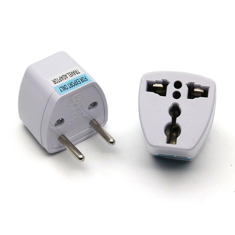 Купить с кэшбэком xintylink 2pcs 110v 220v  two round pin plug power socket adapter plugs use in the Europe Russia France Spain