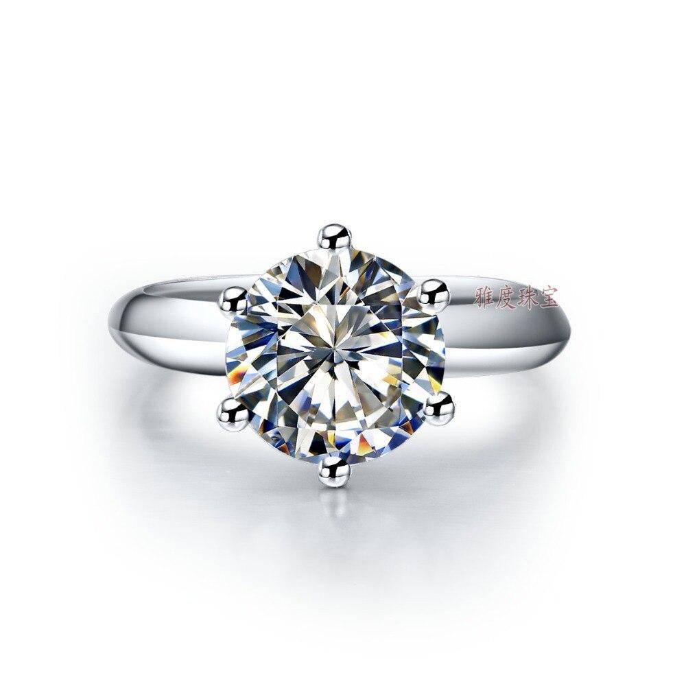 خاتم من الذهب الخالص عيار 750 قيراط للنساء ، مويسانيتي إيجابي للذكرى السنوية ، مجوهرات فاخرة من أفضل العلامات التجارية