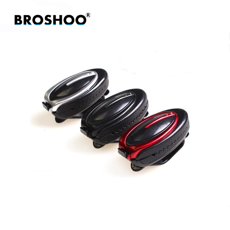 BROSHOO estilo de coche de moda de deporte ABS coche Visor de sol gafas pluma titular de la tarjeta Clip accesorios de coche