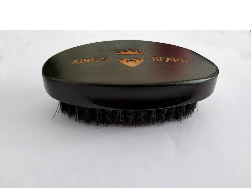 Brocha de afeitar de alta calidad para hombres cerdas de jabalí de madera Natural, brocha negra para Barba de 4,7 pulgadas