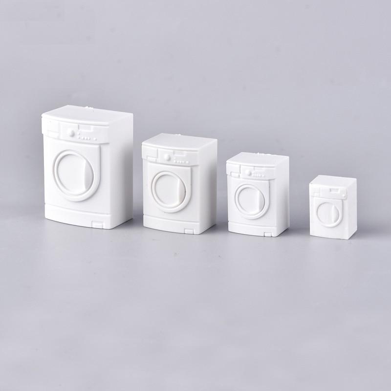10pcs/lot 1/20 1/25 1/50 Modeling washing machine dollhouse Furniture Simulation Bathroom Model Toy for Doll House Decoration