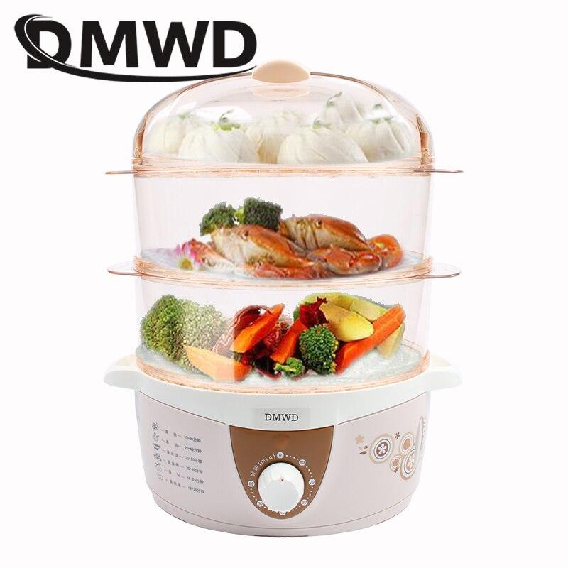 Электрический отпариватель для еды DMWD, 3-слойный многофункциональный таймер на 60 минут, нагреватель для приготовления змей, яичный брахер, Е...