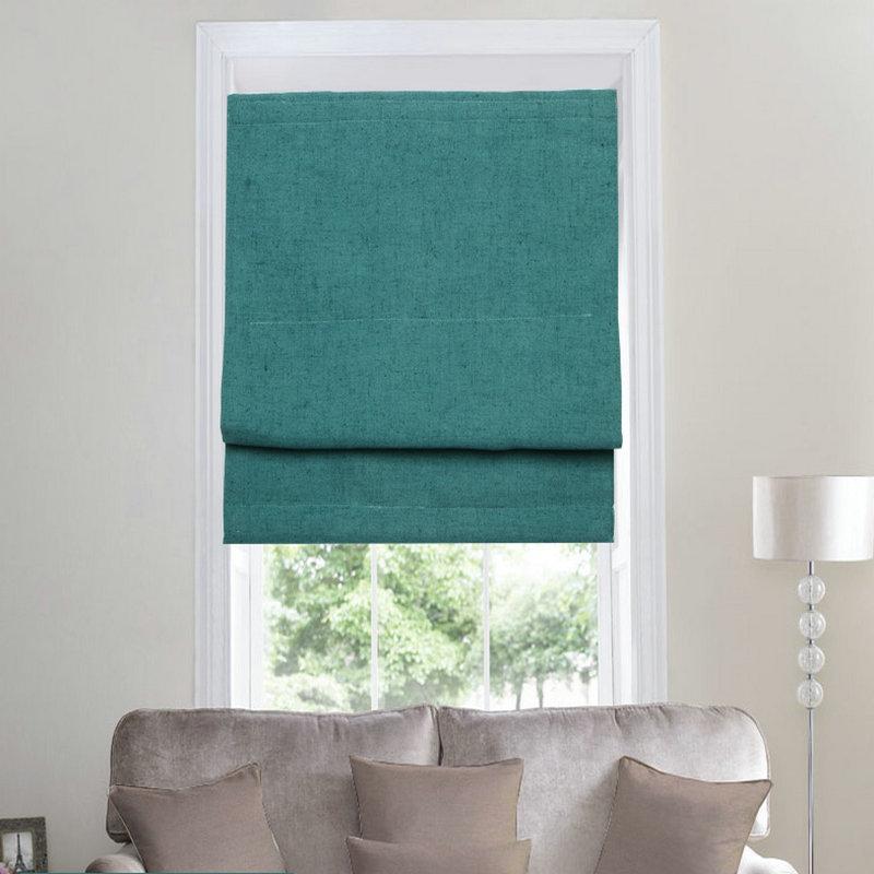 Stores en lin colorés bordeaux/violet/bleu/gris   Livraison gratuite, rideaux plats solides avec fonction de traitement de fenêtre