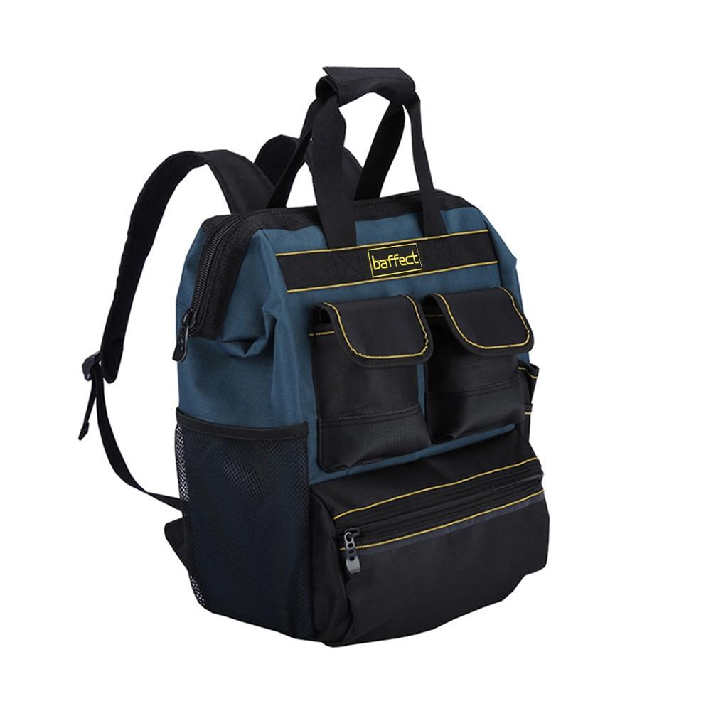 Baffect أداة على ظهره مع أداة منظم حقيبة أدوات الكهربائي لتخزين تراديسمان المنظم حقيبة فني حقيبة للفني