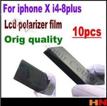10 stücke für iPhone X 8 4 4s 5 5s 5c se 6 6s 7g plus 4,7 5,5 inch LCD Polarisator Film Polarisation Licht Film i8 8p = i7 7p
